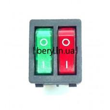 Кнопка двойная 6 контактов