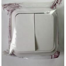 Выключатель накладной А56-134 двойной, 6А 250В (Беларусь)