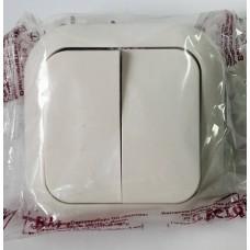 Выключатель С56-124 двойной, 6А 250В (Беларусь)