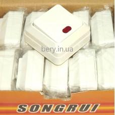 Выключатель накладной SongRui одинарный с подсветкой