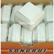 Выключатель накладной SongRui одинарный