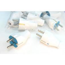 Вилка электрическая латунная Евро Svittex 03, 16А прямая