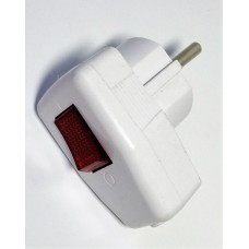 Вилка электрическая с выключателем