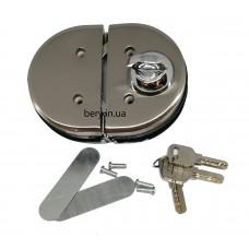 Замок для стеклянных дверей JS-138, 3 лазерных ключа