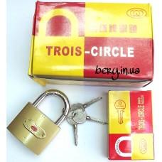 Замок навесной Trois Circle 50мм, крестовый ключ