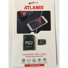 карта памяти 8Gb class 10 (adapter SD) ATLANFA