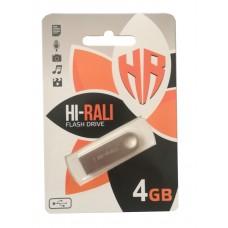 флешка hi-Rali 4GB shuttle silver