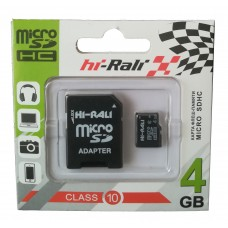 карта памяти 4Gb class 10 (adapter SD) Hi-Rali