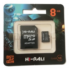карта памяти 8Gb class 10 (adapter SD) Hi-Rali