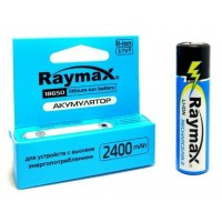 Аккумулятор Raymax 18650 с защитой Li-Ion 2400mAh 3.7V 1шт