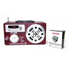 Радиоприемник Atlanfa AT-R82 +флешка, SD карта, minijack